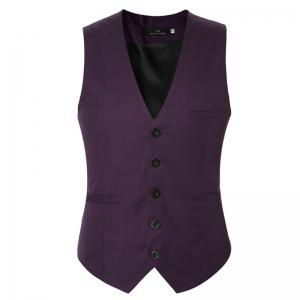 Men's Classic Formal Business Slim Fit Chain  Vest Suit Tuxedo Waistcoat -