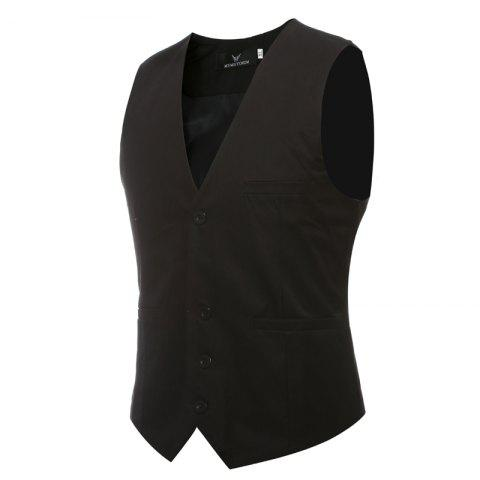 Outfit Men's Classic Formal Business Slim Fit Chain  Vest Suit Tuxedo Waistcoat