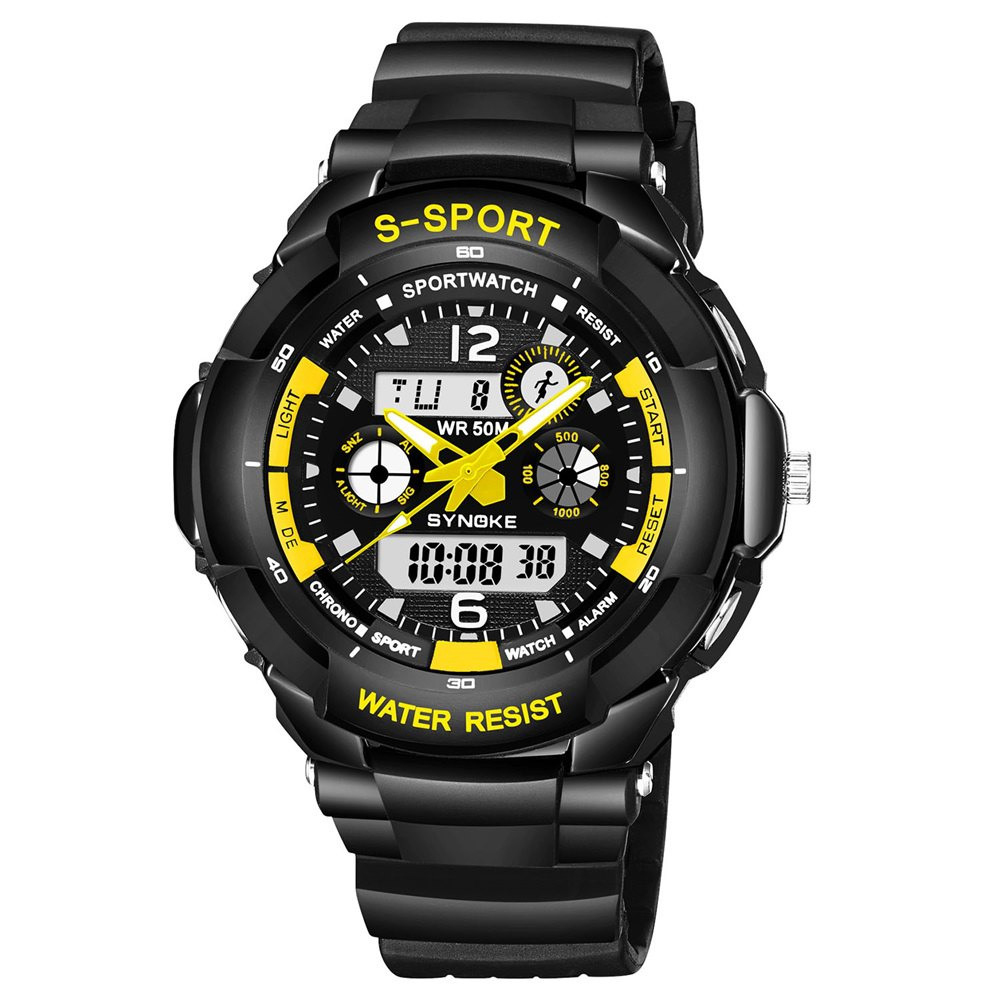 New SYNOKE 67316 Waterproof Men Sports Watch
