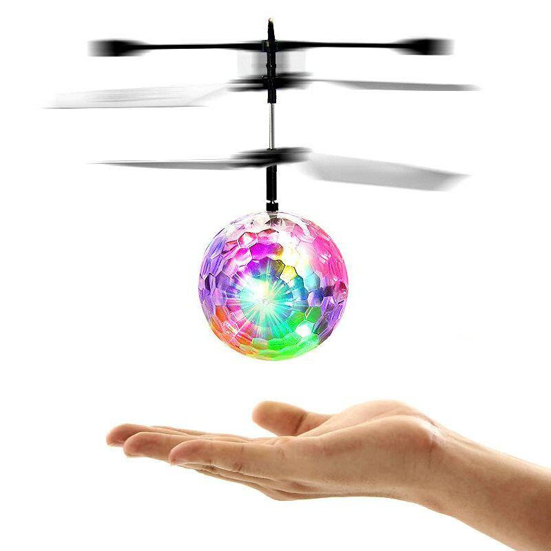 Cheap Induction Colorful Lamp Flash Flying Ball Helicopter Toy for Kids