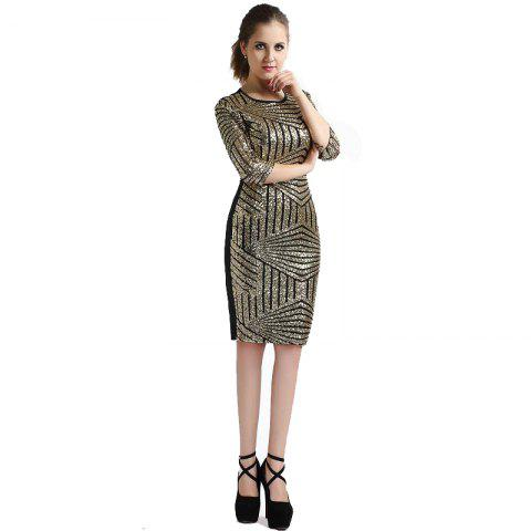 Fashion | Sequin | Sleeve | Women | Dress | Plus | Lace | Size | New