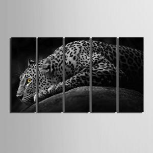Peintures Frameless de conception spéciale Lonely Cheetah 5PCS -