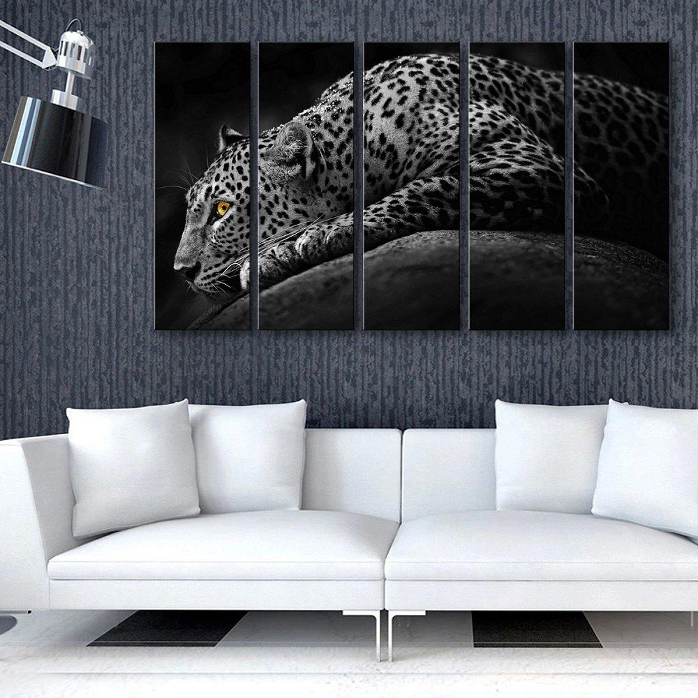 Fashion Special Design Frameless Paintings Lonely Cheetah 5PCS