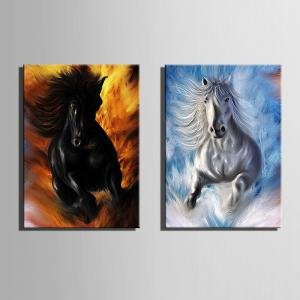 Special Design Frameless Paintings Horses running 2PCS -