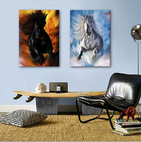 Fancy Special Design Frameless Paintings Horses running 2PCS