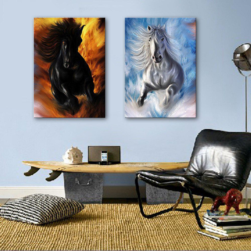 Outfits Special Design Frameless Paintings Horses running 2PCS