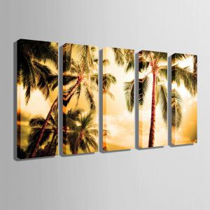 Special Design Frameless Paintings The Coconut 5PCS -
