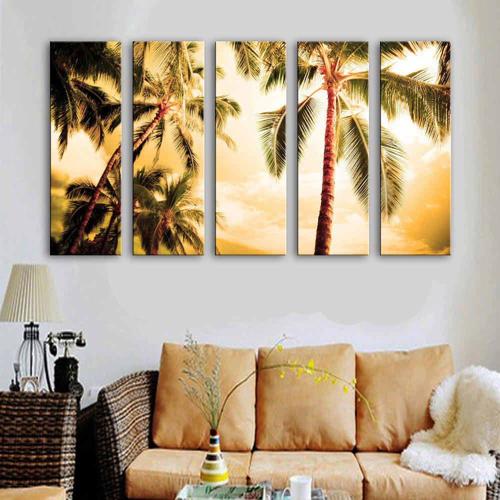 Chic Special Design Frameless Paintings The Coconut 5PCS