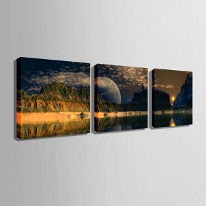 Special Design Frameless Paintings The mountain sunrise 3PCS -