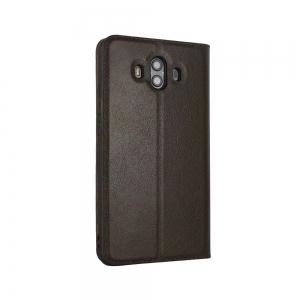 Wkae Genuine Cowhide Leather Smart Cover Case with View Window for Huawei Mate 10 -
