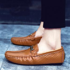 European and American MenBusiness Leather Peas Shoes -