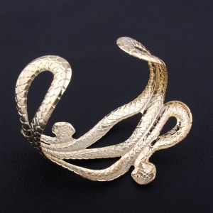 Punk Style Multilayer Opening Wide Bracelets Snake-shaped Bangles -