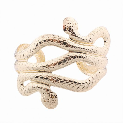 Chic Punk Style Multilayer Opening Wide Bracelets Snake-shaped Bangles