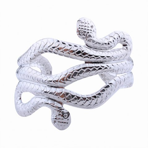 Online Punk Style Multilayer Opening Wide Bracelets Snake-shaped Bangles