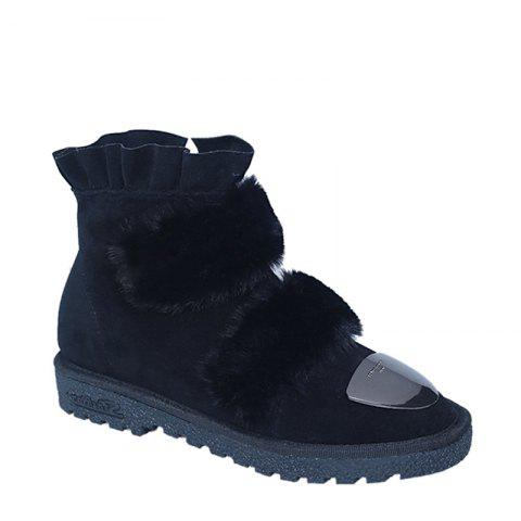 Hot 2017 New Female Winter Thick Warm Flat All-match Antiskid Shoes