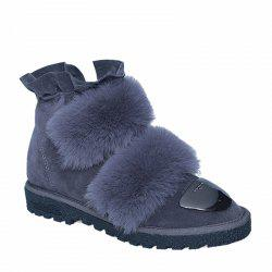 2017 New Female Winter Thick Warm Flat All-match Antiskid Shoes -