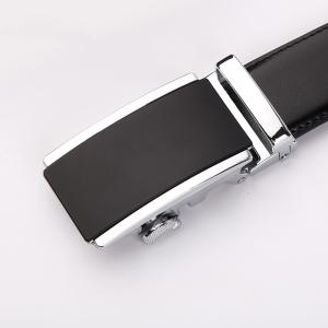 Men's  Leather Belt Reversible Wide Rotated Simple Automatic Buckle  G89007 -
