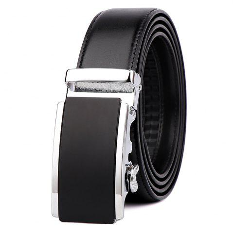 Best Men's  Leather Belt Reversible Wide Rotated Simple Automatic Buckle  G89007