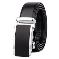 Men's Leather Belt Reversible Wide Rotationed Simple Automatic Buckle G89007 -