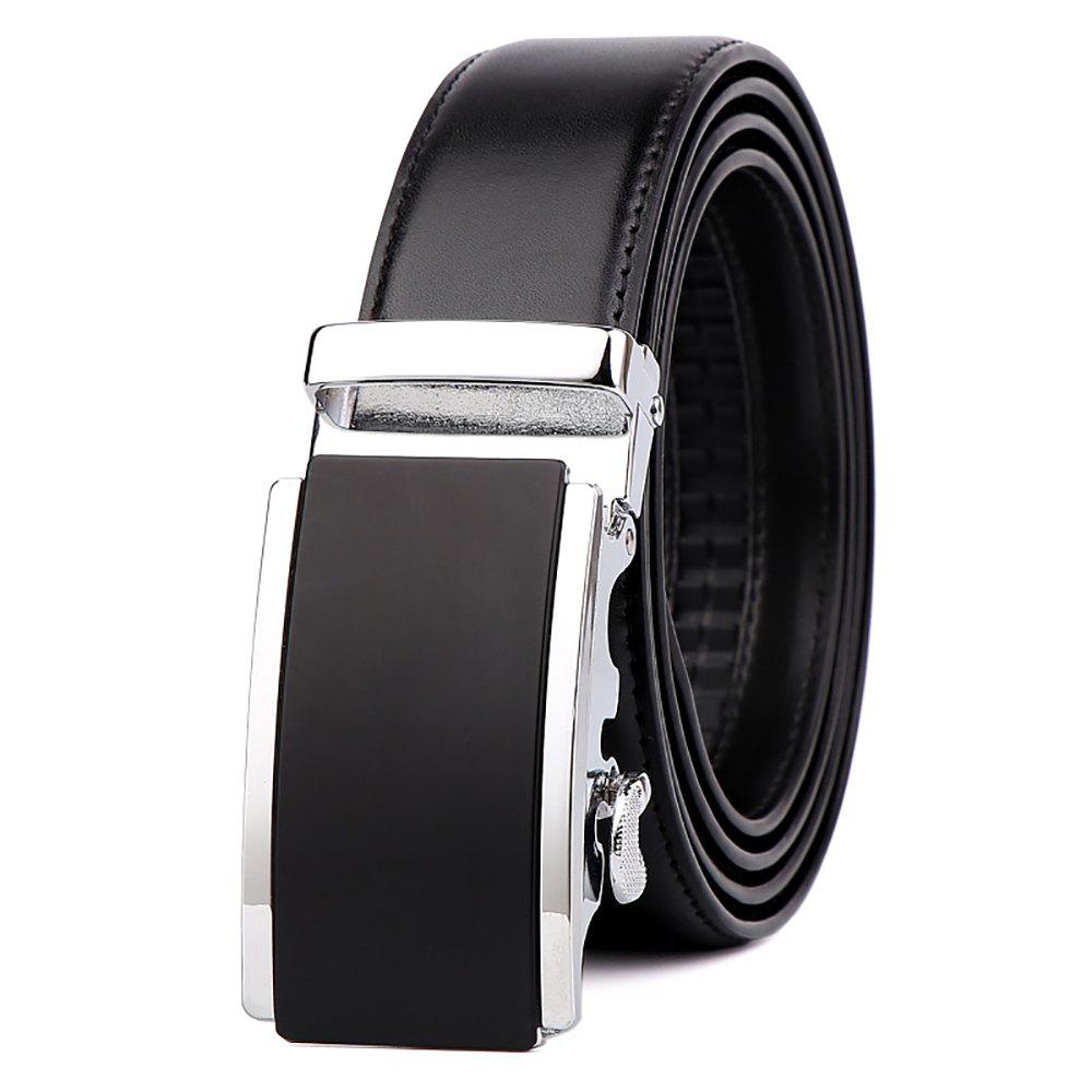 Outfit Men's Leather Belt Reversible Wide Rotationed Simple Automatic Buckle G89007