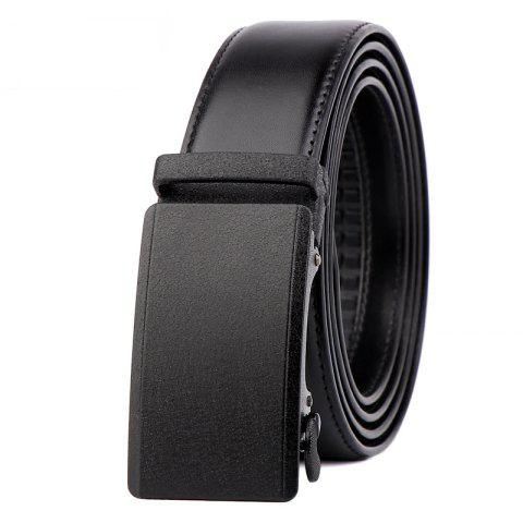 Chic Men Leather Belt with Reversible Single Prong Buckle G89003