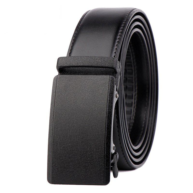 Trendy Men Leather Belt with Reversible Single Prong Buckle G89003