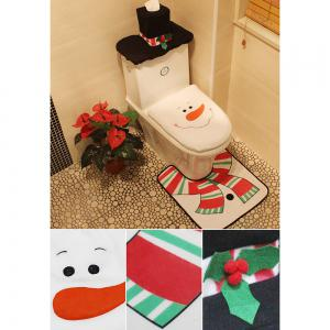 Set de décoration de toilette de Noël Snowman -