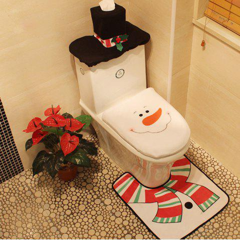 Set de décoration de toilette de Noël Snowman