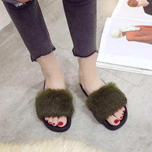 Woollen Slipper Lady Autumn New Woolly  Shoes -