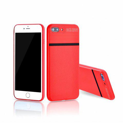 Buy Luxury Leather Business Carbon Fiber Pattern PU Soft TPU Cover Case For iPhone 7 Plus / 8 Plus