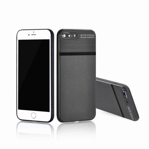 Outfit Luxury Leather Business Carbon Fiber Pattern PU Soft TPU Cover Case For iPhone 7 Plus / 8 Plus
