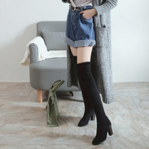 High Elastic Knee High Stovepipe Winter Boots -
