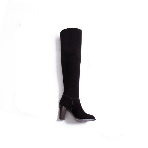 Fancy High Elastic Knee High Stovepipe Winter Boots