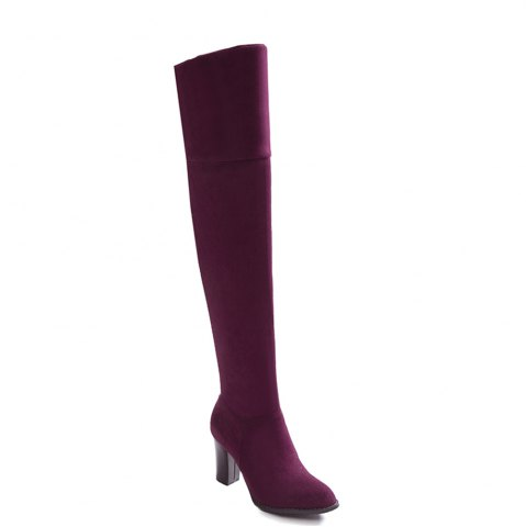 Buy High Elastic Knee High Stovepipe Winter Boots
