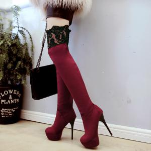 Women's Shoes Winter Platform Stiletto Heel Slip-On  Sexy  Boots -