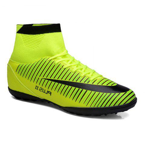 Chic Men's Sports Shoes Color Block Lacing Fashion Football Shoes