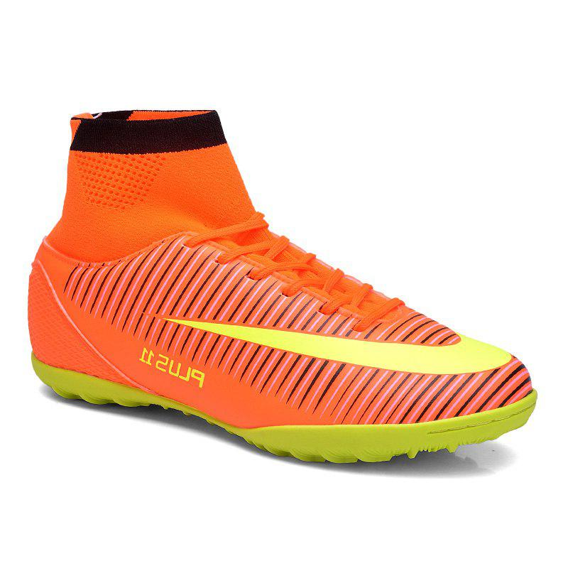 Fashion Men's Sports Shoes Color Block Lacing Fashion Football Shoes