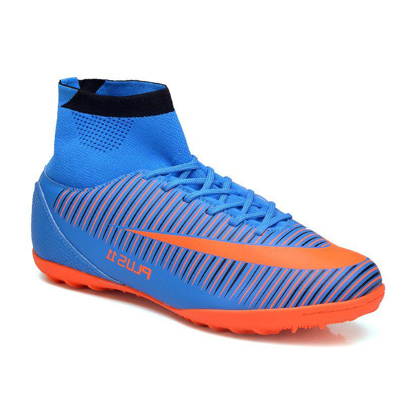 Fancy Men's Sports Shoes Color Block Lacing Fashion Football Shoes