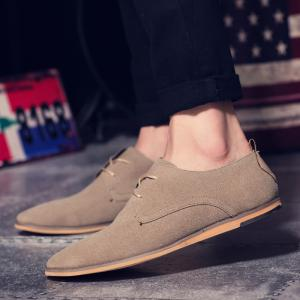 Men's Oxford Shoes Solid Color Pointed Toe Business Shoes -