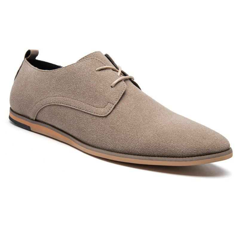 Cheap Men's Oxford Shoes Solid Color Pointed Toe Business Shoes
