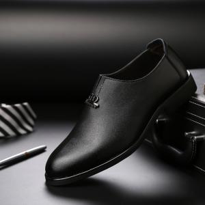 Men's  Shoes Business Durable Pointed Toe Formal Shoes -