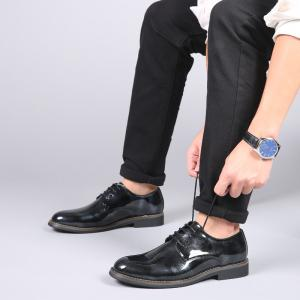 Men'S Business Casual Patent Leather Shiny Shoes -