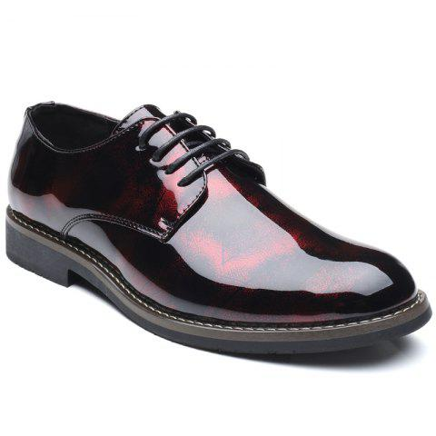 Latest Men'S Business Casual Patent Leather Shiny Shoes