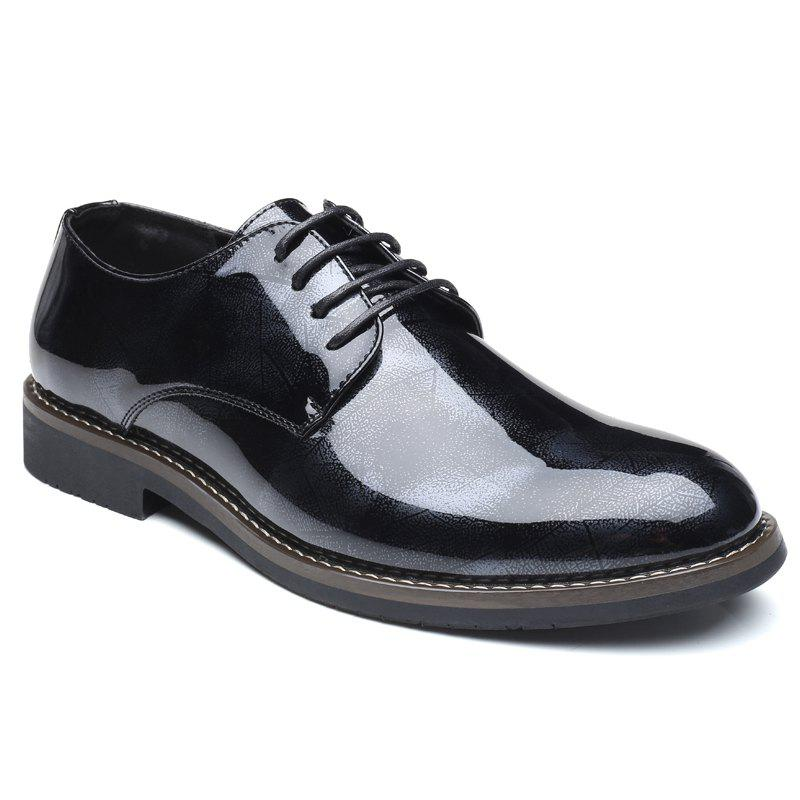 Store Men'S Business Casual Patent Leather Shiny Shoes