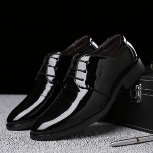 Men's Stylish Business Glossy Shoes -
