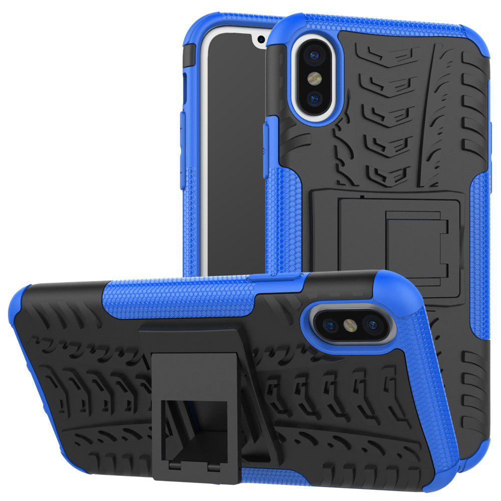 Outfit Double Protections Phone Bracket Anti-drop Bumper Relief Case Back Cover Protector for iPhone X