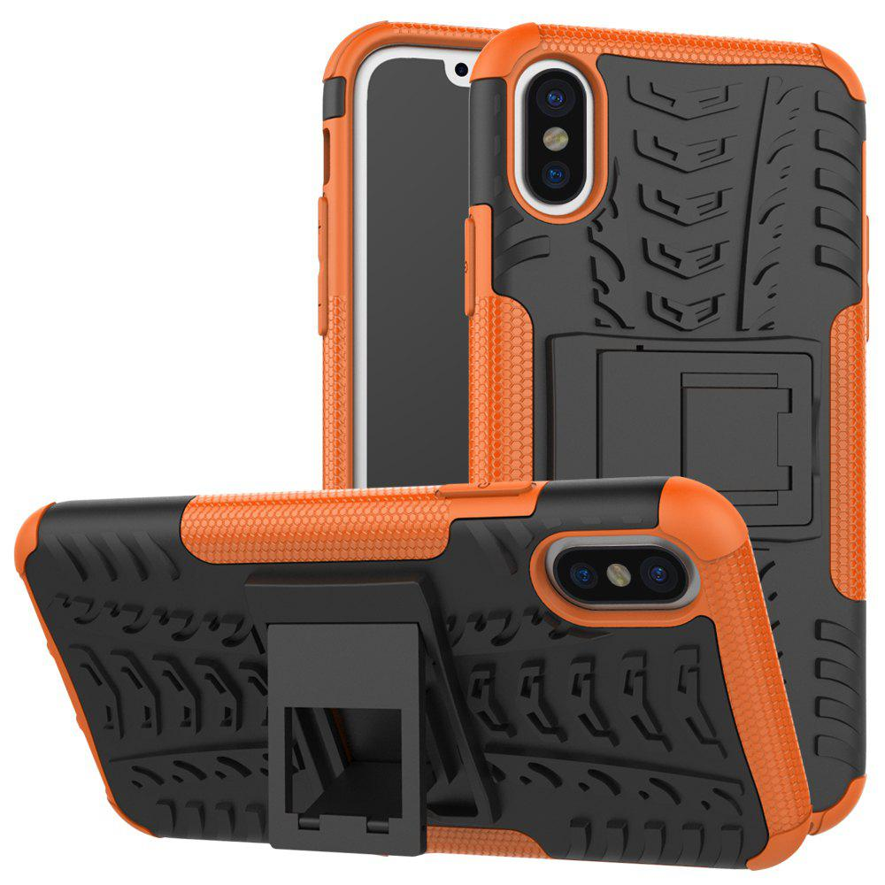 Discount Double Protections Phone Bracket Anti-drop Bumper Relief Case Back Cover Protector for iPhone X