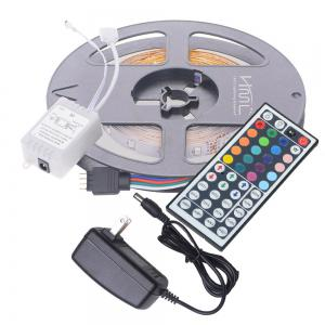 HML 2pcs x 5M 24W RGB 2835 300 LED Strip Light with IR 44 Keys Remote Control+ Adapter(US Plug) -