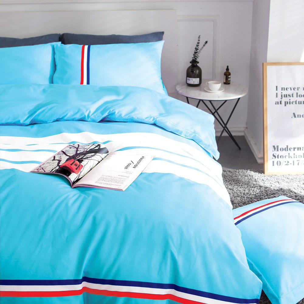 Hot Fashion Active Color Stripe Standard Bedding Set