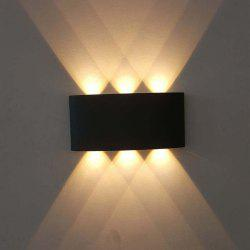 JIAWEN 6W Aluminum LED Wall Light for Bedside Bedroom Porch Stair Lamp AC 85 - 265V -